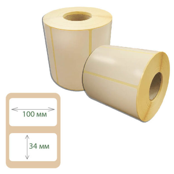 Этикетки Print-label 100х34 полуглянец