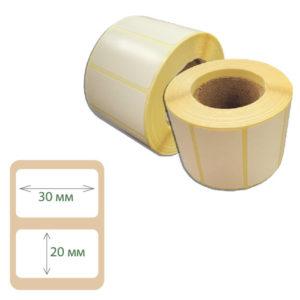 Этикетки Print-label 30х20 полуглянец