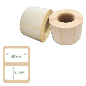 Термоэтикетки Print-label 43х25 ЭКО