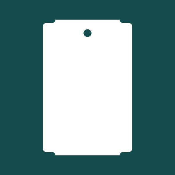 Бирка (ярлык) 100 x 152 пластиковая с 1 отверстием