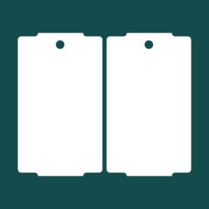 Бирка (ярлык) 30 x 50.8 картон 2