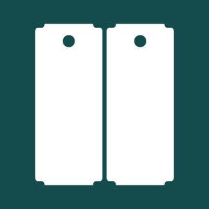 Бирка (ярлык) 50 x 120 пластиковая 2