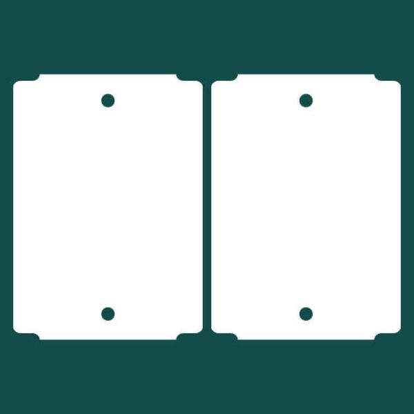 Бирка (ярлык) 50 x 70 пластиковая 2
