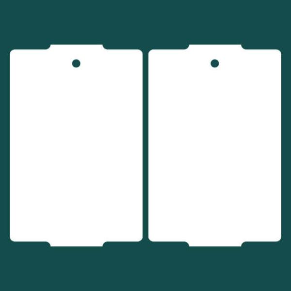 Бирка (ярлык) 50 x 76 пластиковая 2