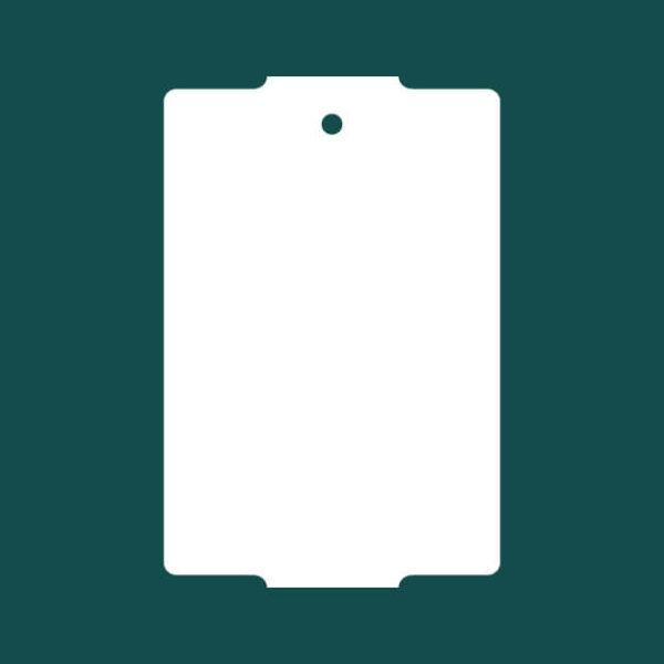 Бирка (ярлык) 50 x 76 пластиковая