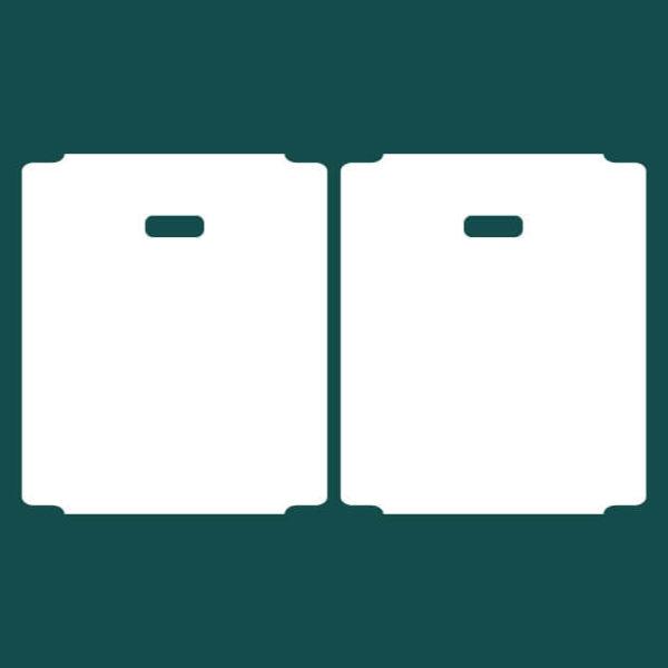Бирка (ярлык) 56 x 66 пластиковая 2