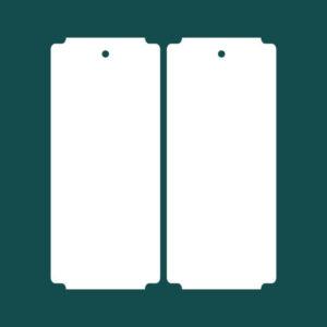 Бирка (ярлык) 60 x 138 пластиковая 2