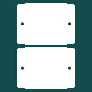 Бирка (ярлык) 70 x 50 пластиковая 2