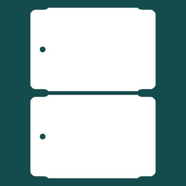 Бирка (ярлык) 75 x 50 пластиковая 2