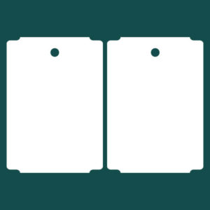Бирка (ярлык) 78 x 110 пластиковая 2
