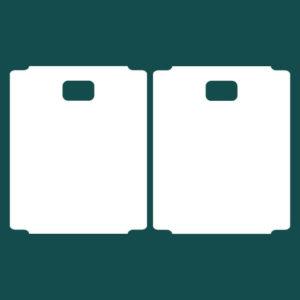Бирка (ярлык) 90 x 110 пластиковая с отверстием 20 x 12 2