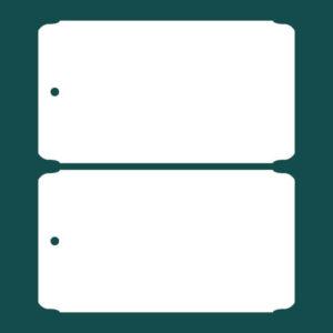 Бирка (ярлык) 90 x 50 пластиковая 2
