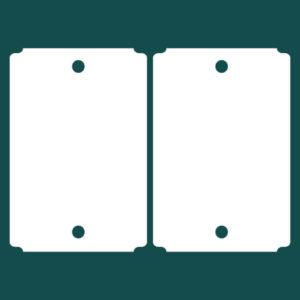 Бирка (ярлык) 92 x 133 пластиковая 2