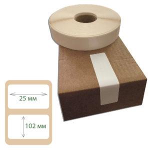 Этикетки контроля вскрытия Print-label 25х102 фоамтак
