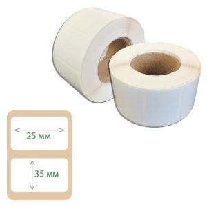 Этикетки Print-label 25х35 полипропилен