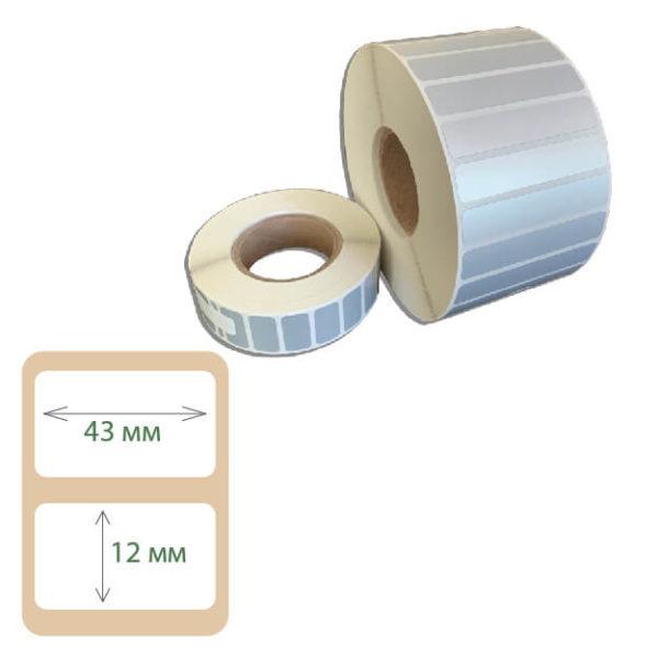 Этикетки Print-label 43х12 полиэстер