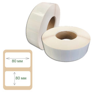 Этикетки Print-label 80х80 полипропилен