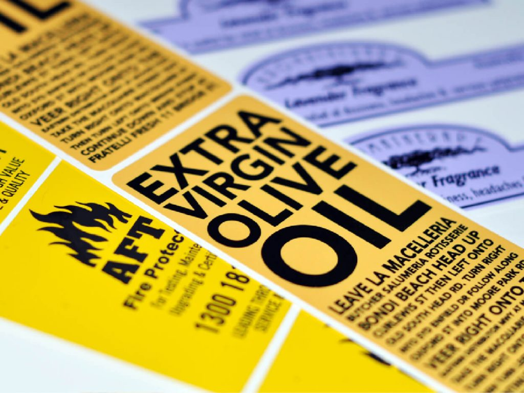 Самоклеящиеся этикетки - Виды материалов и способы печати