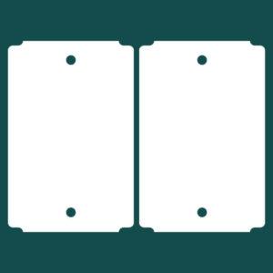 Бирка (ярлык) 100 x 152 пластиковая с 2мя отверстиями 2