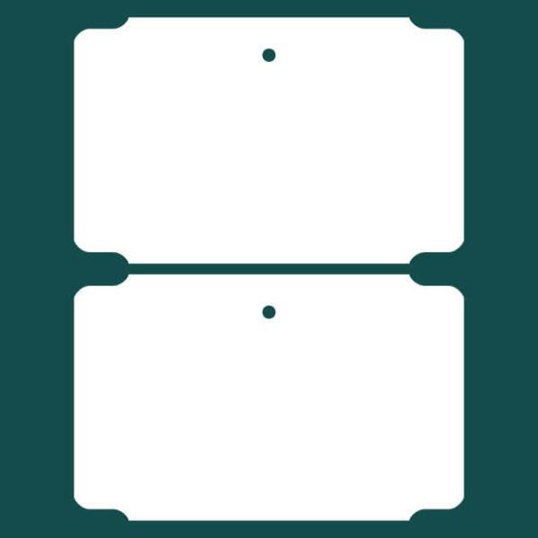 Бирка (ярлык) 95 x 60 пластиковая 2