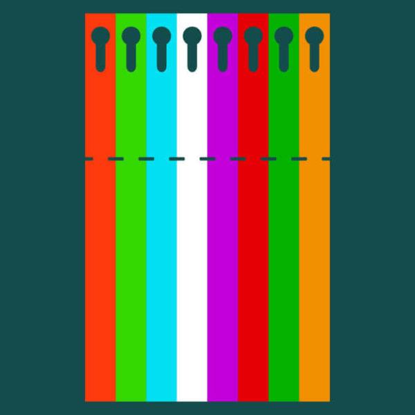 Садовая бирка петелька цветная 20 х 254 Пластик