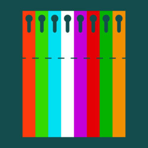 Садовая бирка петелька цветная 22 х 216 Пластик