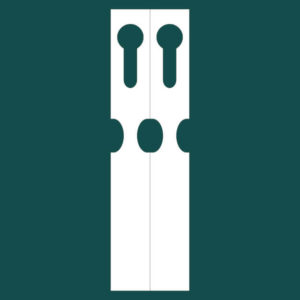 Садовая бирка петелька (ярлык) 46 2 ряда